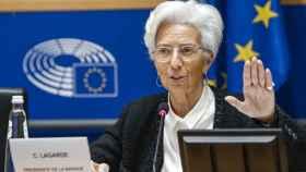 Christine Lagarde, durante una comparecencia en la Eurocámara