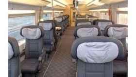 Interior de una tren AVE.