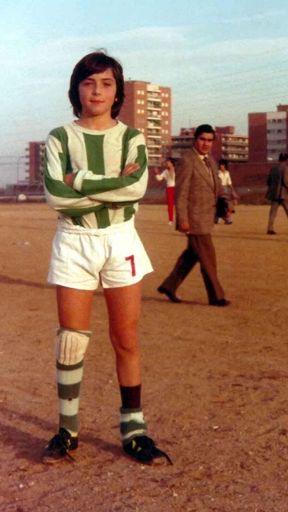 Una de las grandes pasiones de Vallés es el fútbol.