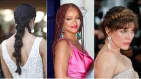 Celebrities con diferentes peinados de trenzas.