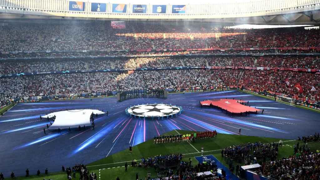 Así estaba el Wanda Metropolitano antes de empezar la final de Champions League
