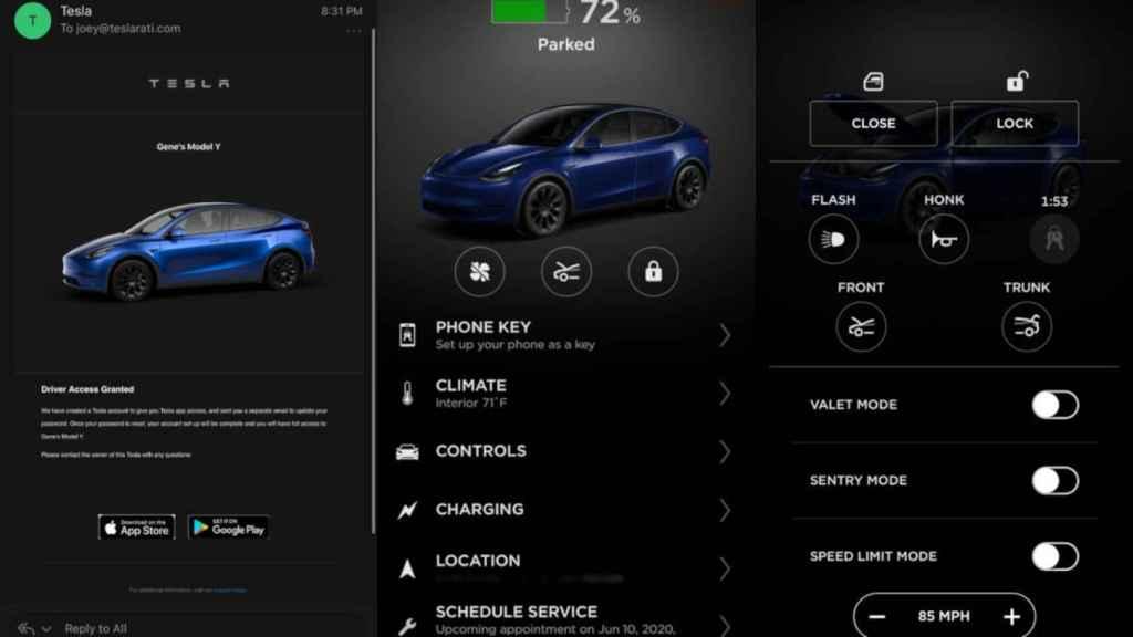 Proceso para recibir un Tesla y configurarlo desde la app
