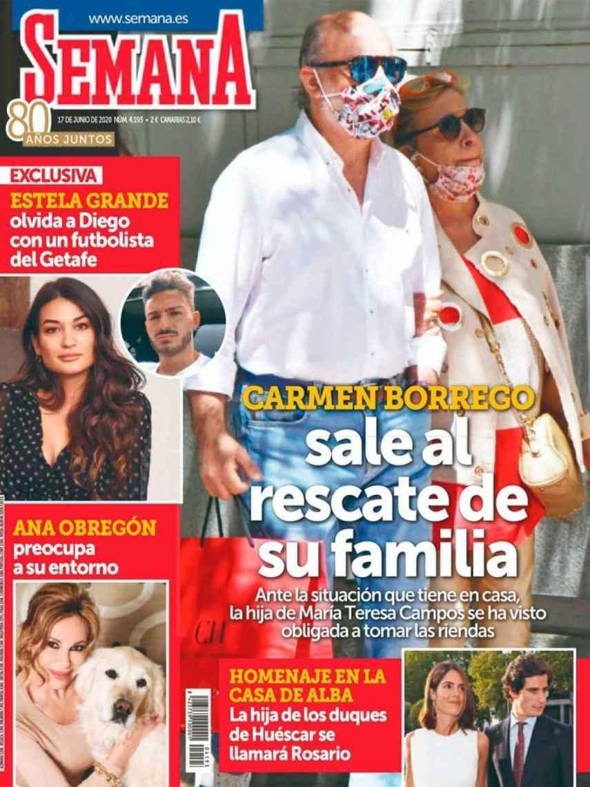 Portada de la revista 'Semana' en la que desvelan la relación entre Estela y Juan.