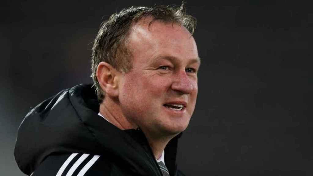 Michael O'Neill, durante un partido