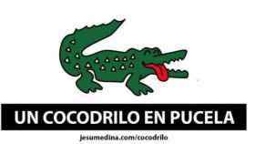 Ilustración del diseñador Jesu Medina sobre el cocodrilo al que se busca en los ríos Pisuerga y Duero