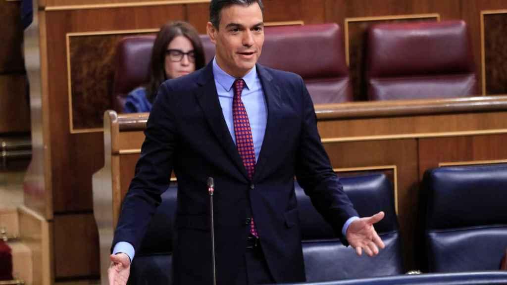 Sánchez este miércoles en la sesión de control del Congreso