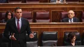 Pedro Sánchez en la sesión de control al Gobierno.