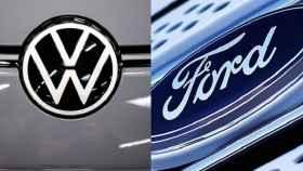 Logos de Ford y Volkswagen.