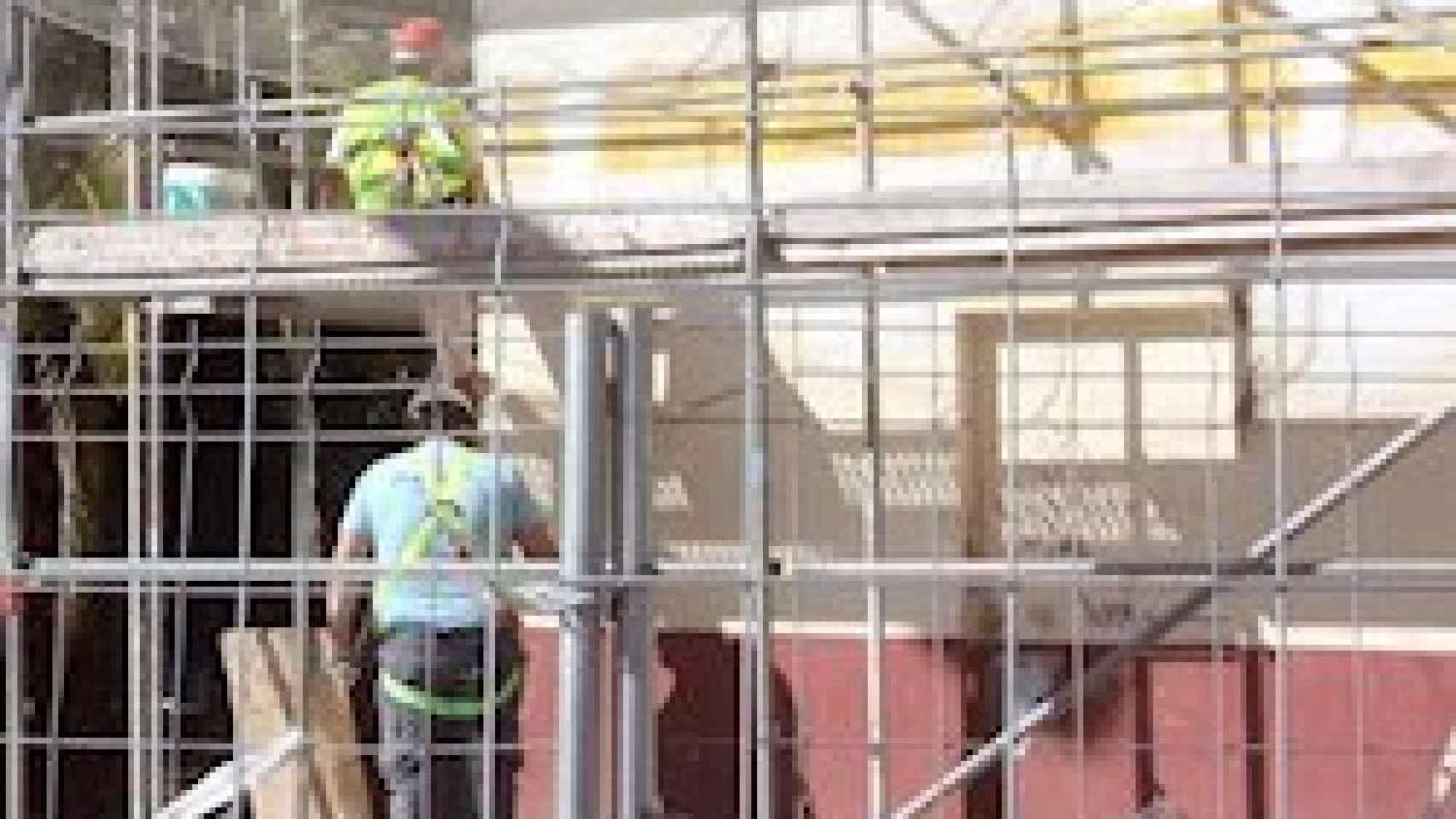 Imagen de un edificio en obras.
