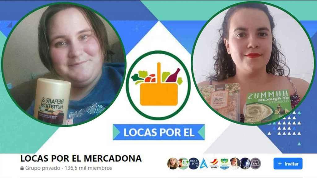 Miriam y Paula, usuarias del grupo Locas por el Mercadona.