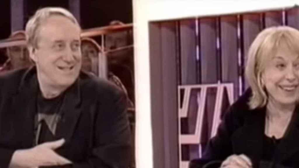 Josep María Mainat y su ex, Rosa María Sardà, en un programa de TV3.