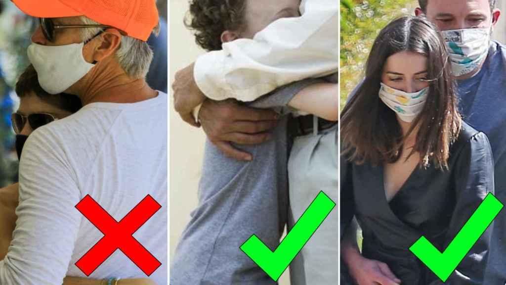 Hay que evitar los abrazos cara a cara y respirar en la misma dirección, aunque los niños pueden abrazar por la cintura.