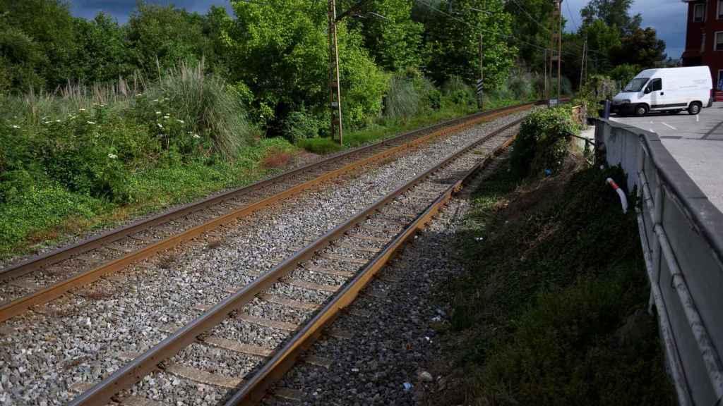 El lugar del siniestro ferroviario, en Barrada (Cantabria)