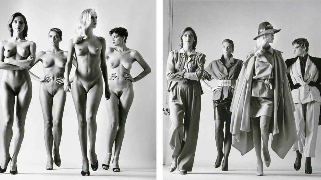 Sie Kommen, Paris (Dressed and Naked) de Helmut Newton.