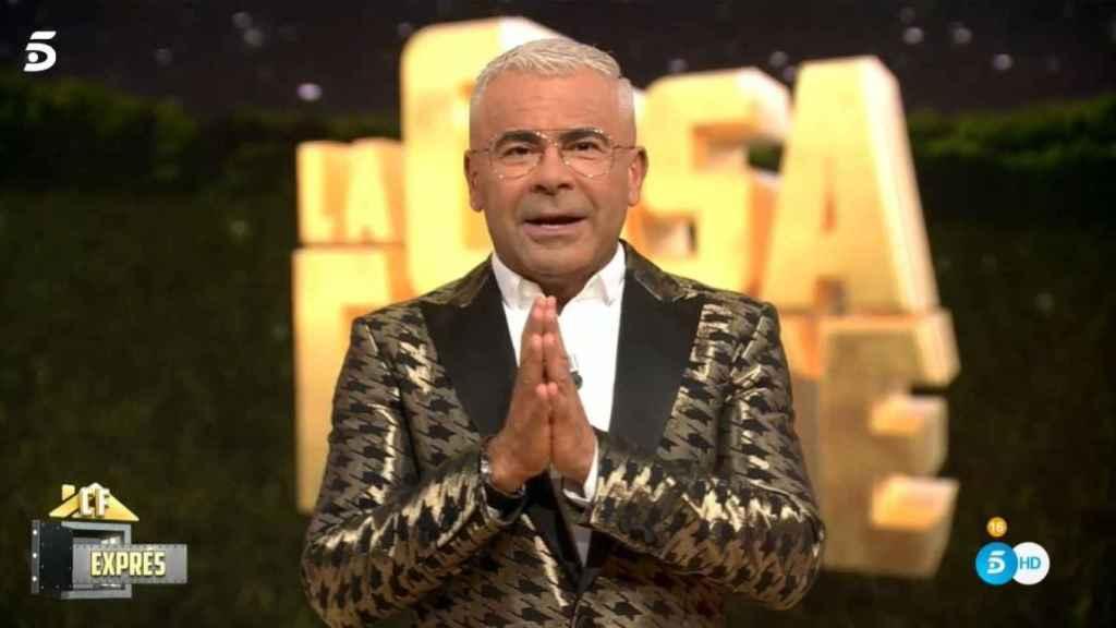Jorge Javier Vázquez durante el estreno de 'La casa fuerte'.