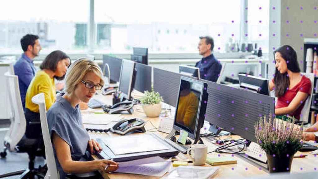 Imagen de archivo de una oficina.