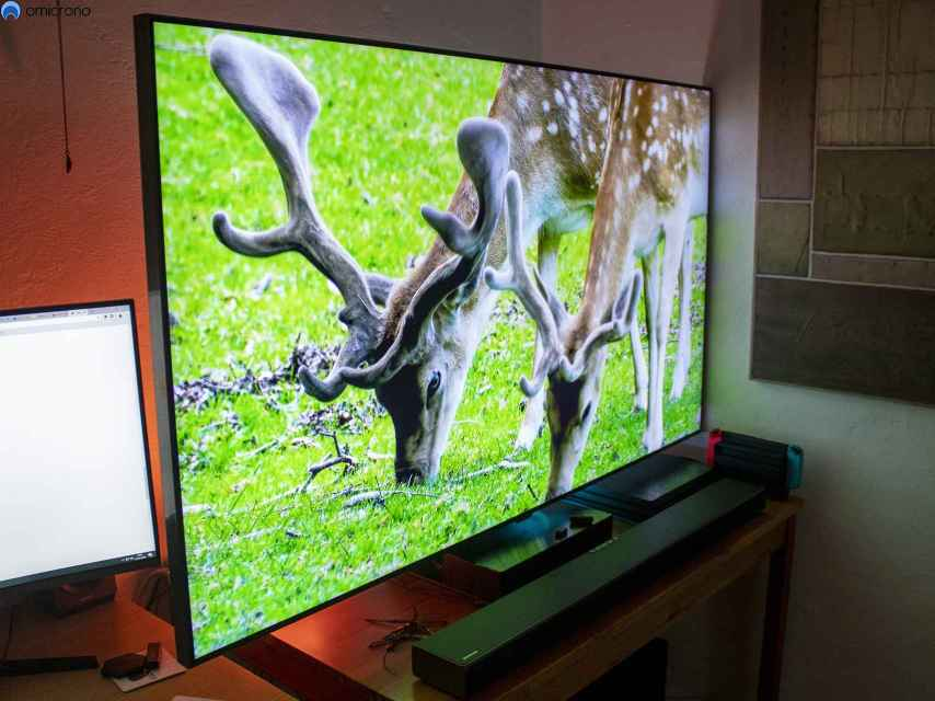 Sí, estamos ante un televisor grande.