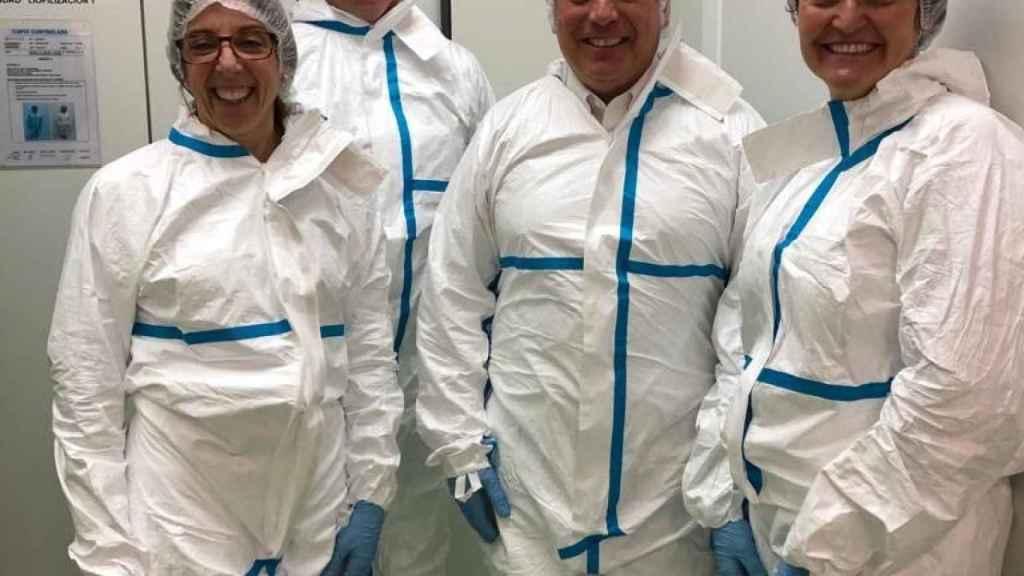 En la planta de producción de Biofabri, una compañía gallega que trabaja en la vacuna de la tuberculosis.