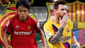 Takefusa Kubo y Leo Messi