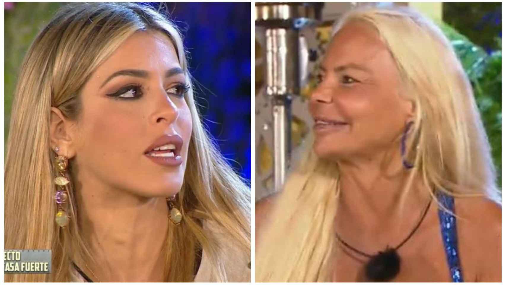 Oriana Marzoli junto a Leticia Sabater en montaje de JALEOS.