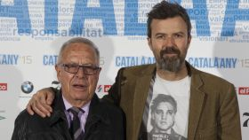 Amado Donés junto a su hijo, Pau Donés, en la gala Català de l'any en el año 2016.