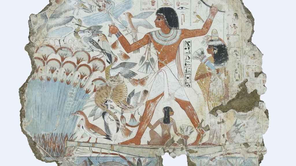 Fragmento de una pintura hallada en la tumba de Nebamun.
