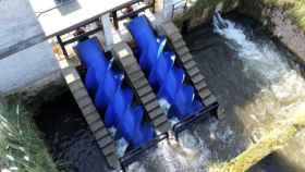 Los hidrotornillos de la microcentral de Torrelavega.