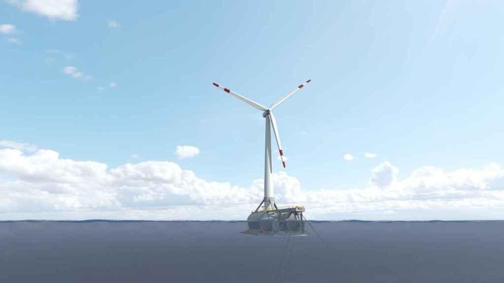 La empresa pública BiMEP impulsa la eólica marina con el primer aerogenerador flotante en España.
