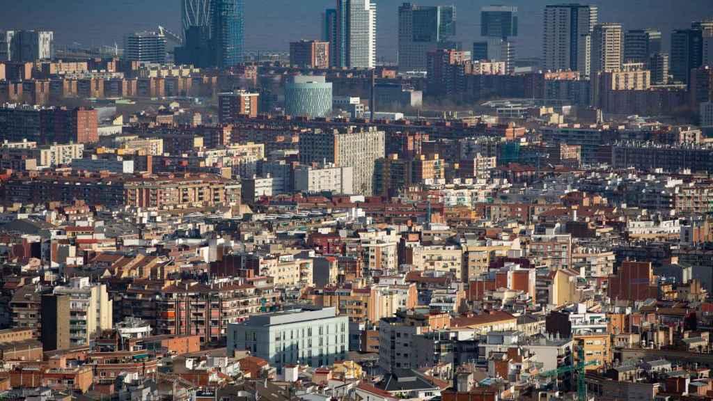 Imagen panorámica de Barcelona.