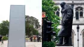 La estatua de Churchill ha sido blindada tras los ataques en las manifestaciones antiracistas