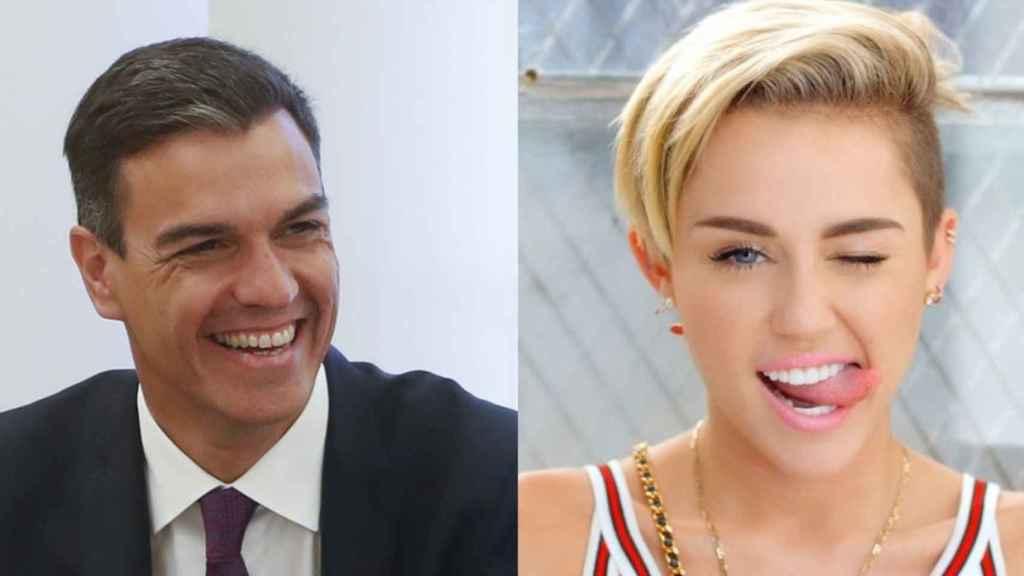 Sánchez y Miley Cyrus