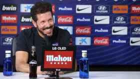 Diego Pablo 'Cholo' Simeone, durante una rueda de prensa