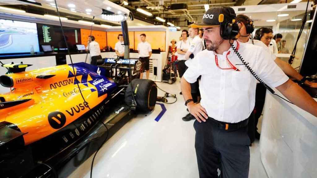 Fernando Alonso y un McLaren