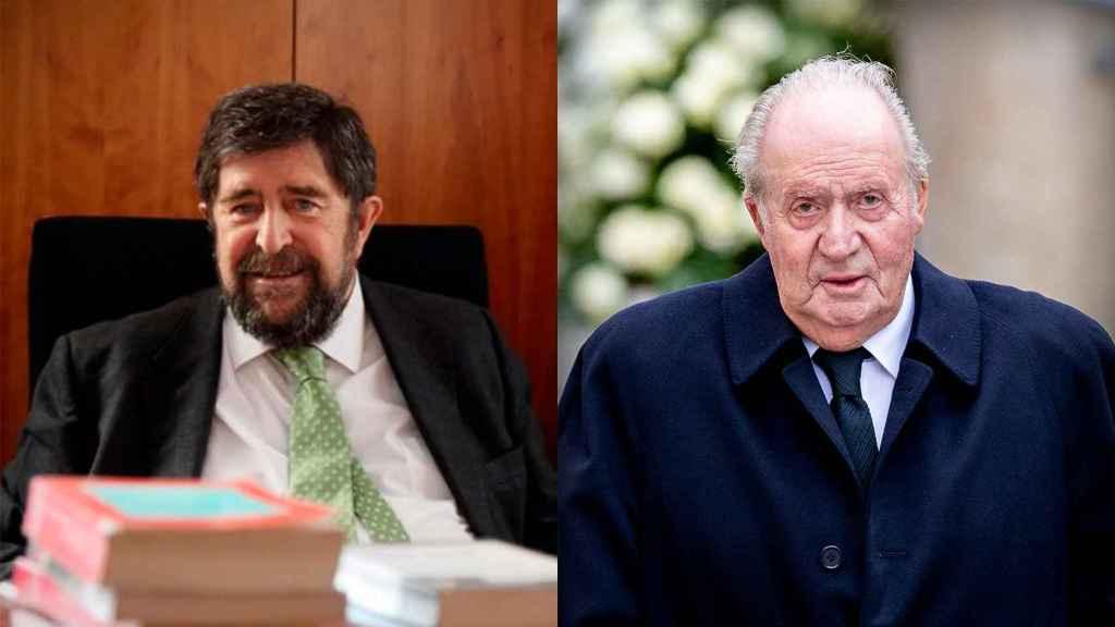 Juan Carlos I y el fiscal José Manuel Campos.