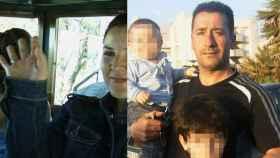 De derecha a izquierda, Francisco, el presunto asesino, junto a sus dos hijos; y su mujer, Belén.