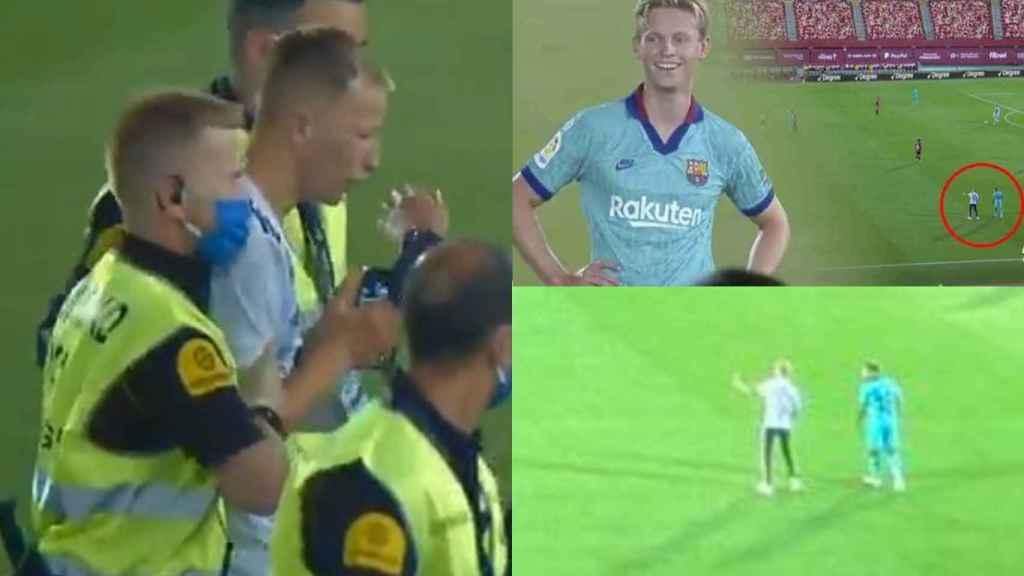 El espontáneo que saltó al campo del Mallorca - Barça