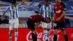 Oyarzabal celebra su gol en el Real Sociedad - Osasuna de La Liga