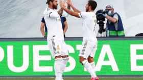 Sergio Ramos agradece a Hazard su asistencia en el gol del sevillano