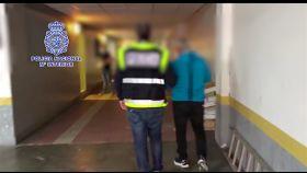 Joaquín Irago recién detenido por la Policía Nacional.