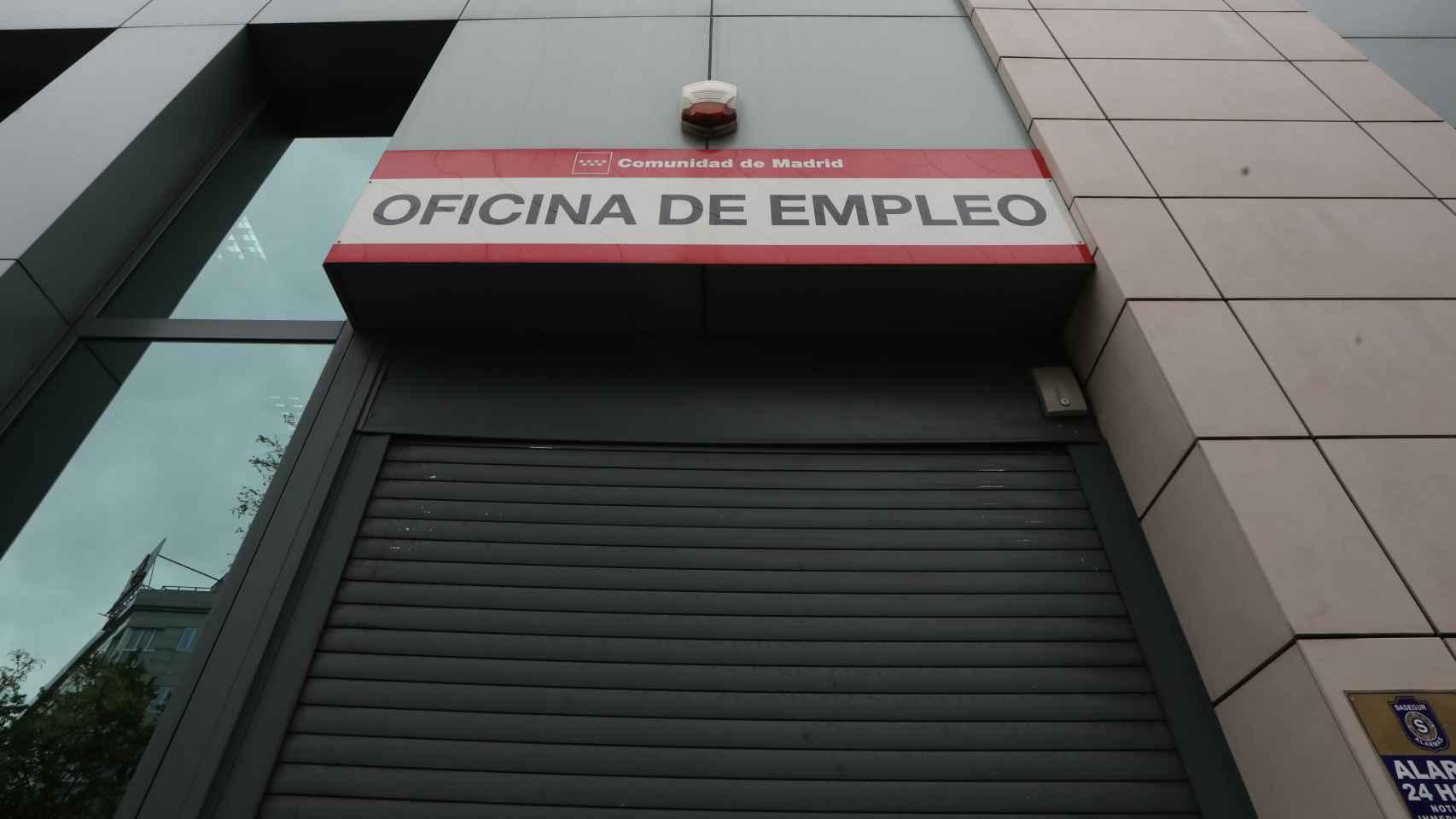 Una oficina de empleo de la Comunidad de Madrid, en una imagen de archivo.