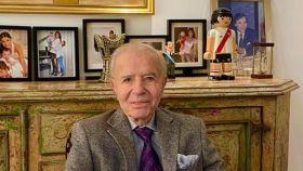 Carlos Menem, expresidente de Argentina, en una foto de sus redes sociales.