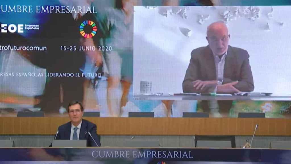 Juan Roig y Antonio Garamendi durante la cumbre de CEOE.