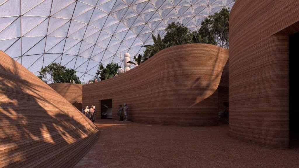 Interior cúpulas en Marte