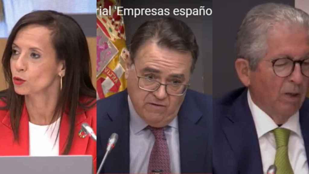 Beatriz Corredor, Antonio Llardén y José Luis López de Silanes.
