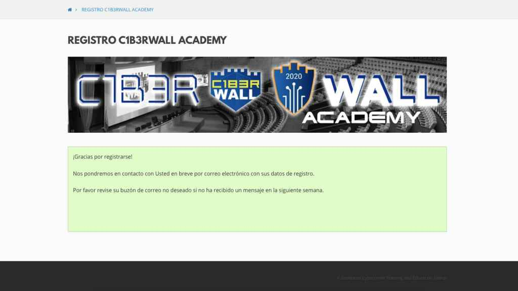 Registro en C1b3rWall.