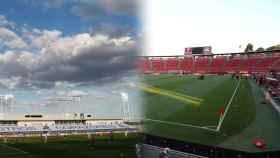 El Estadio Alfredo Di Stefano y el Visit Mallorca Estadi, durante la primera jornada de la nueva normalidad en La Liga