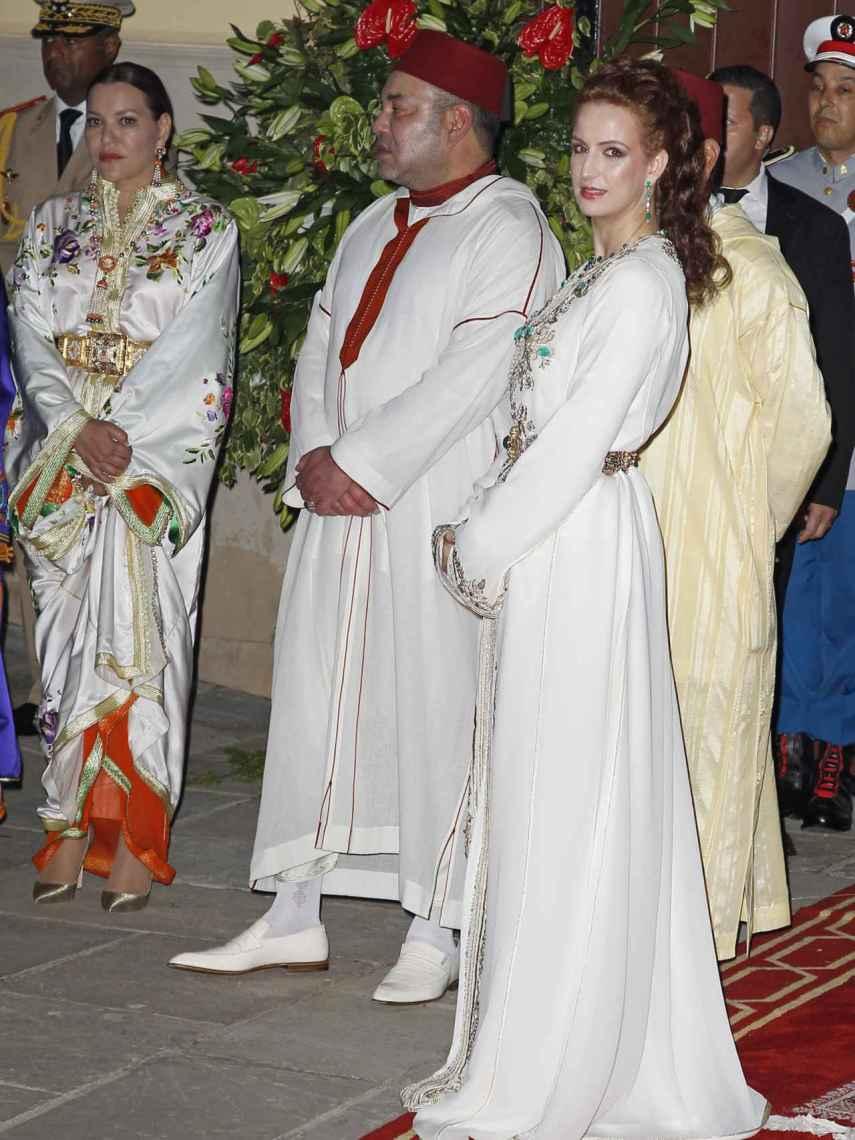 El rey de Marruecos con la princesa Lalla Salma.