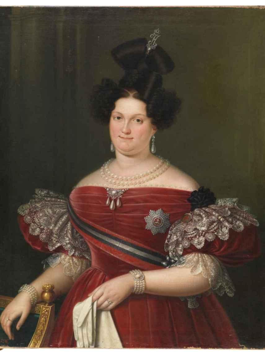 María Cristina de Borbón, según Luis de la Cruz y Ríos.