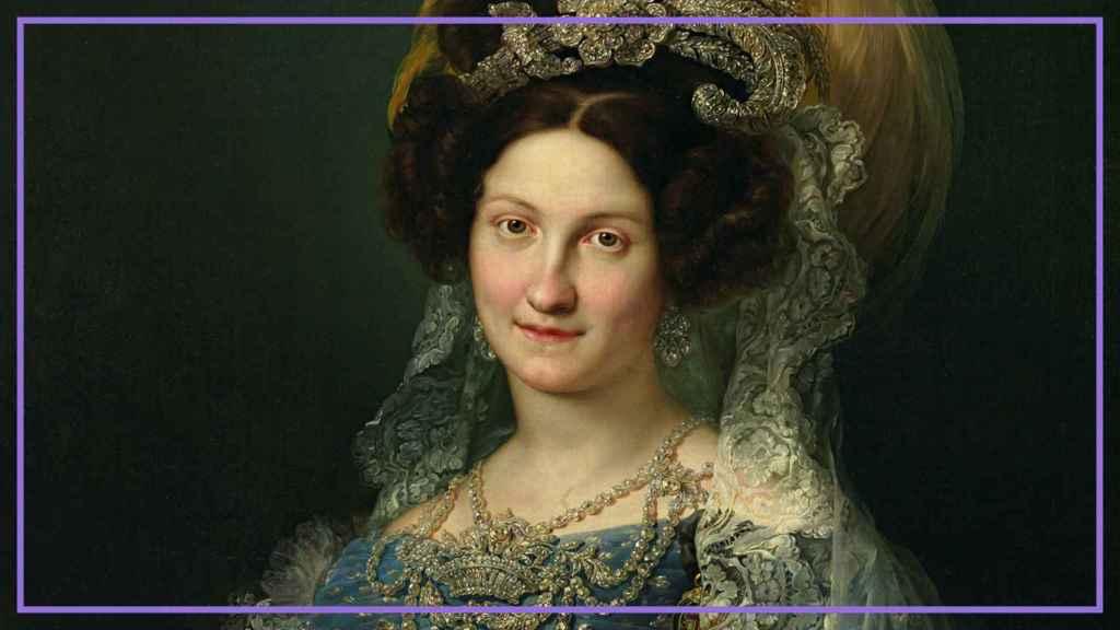 La reina María Cristina de Borbón, retratada por Vicente López.