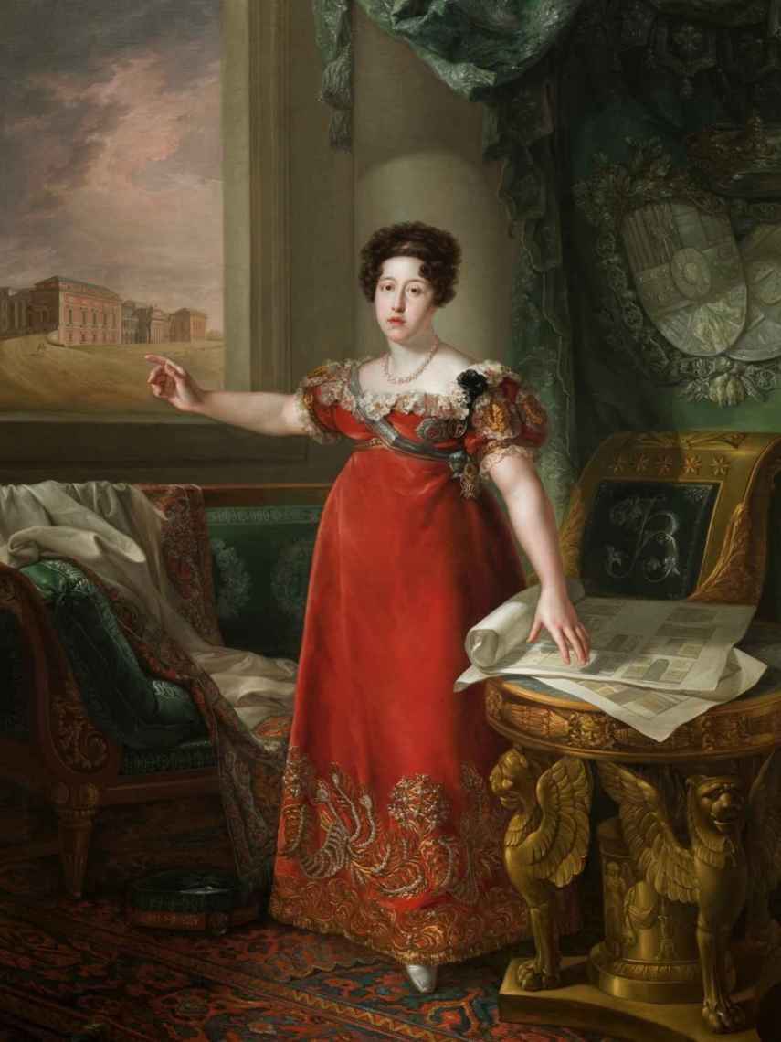 'María Isabel de Braganza como fundadora del Museo del Prado', por Bernardo López.
